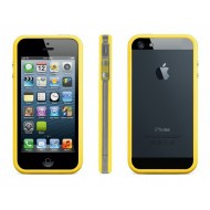 POUR IPHONE 5 : BUMPER JAUNE TRANSPARENT