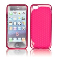 POUR IPHONE 5 : ETUI GEL ROSE TRANSLUCIDE