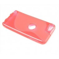 POUR IPOD TOUCH 4 : ETUI GEL ROSE S-LINE