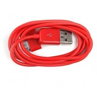 CABLE USB ROUGE SYNCHRONISATION POUR IPHONE & IPAD