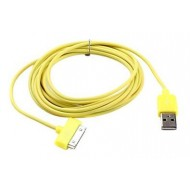 CABLE USB JAUNE SYNCHRONISATION POUR IPHONE & IPAD