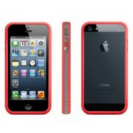 POUR IPHONE 5 : BUMPER ROUGE TRANSPARENT