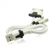 CABLE 3 EN 1 : IPHONE IPAD GALAXY NOTE