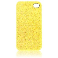 Pour iPhone 4 : Coque strass or V100