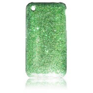POUR IPHONE 3G 3GS : COQUE STRASS VERTE