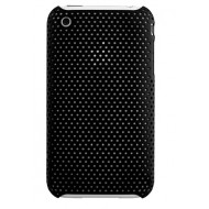 POUR IPHONE 3G 3GS : COQUE PERFOREE NOIRE